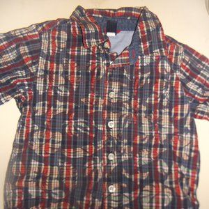 GAP Blue Red Button Down Shirt Boy Size 3